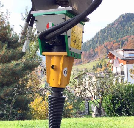 Spaccalegna idraulico per escavatore MINI100