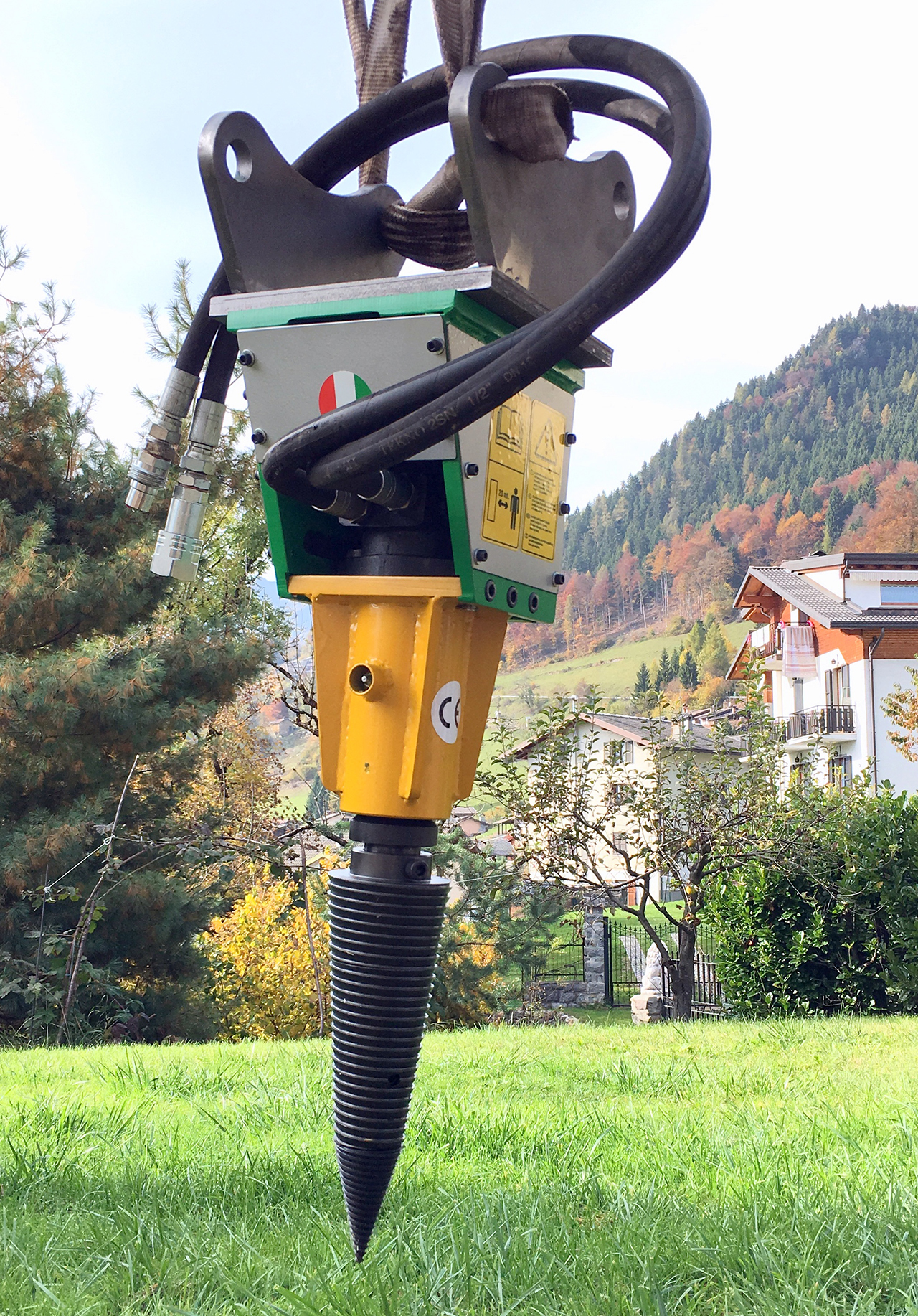 Spaccalegna A Vite Per Mini Escavatore Fino A 20 Q Li Mini100